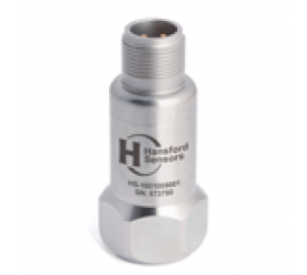 HS-100T Accelerometer - AC acceleration and temperature output via 3 Pin MS Connector